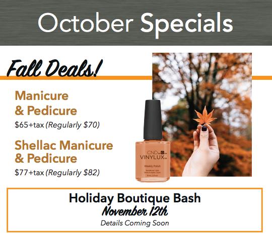 October Specials at Options