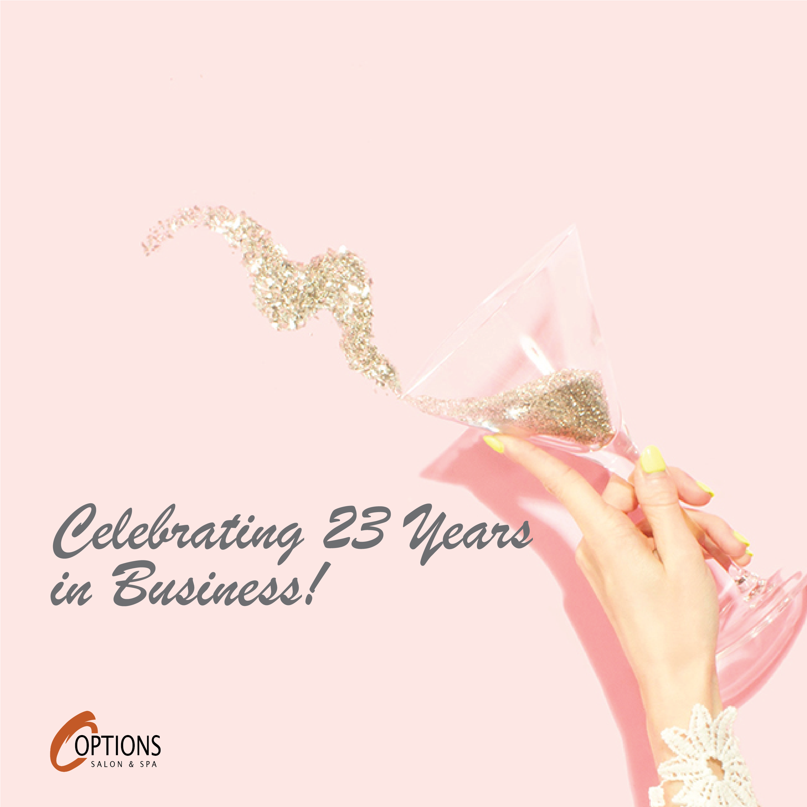 Celebrating 23 years in business.
