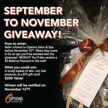 September to November Giveaway