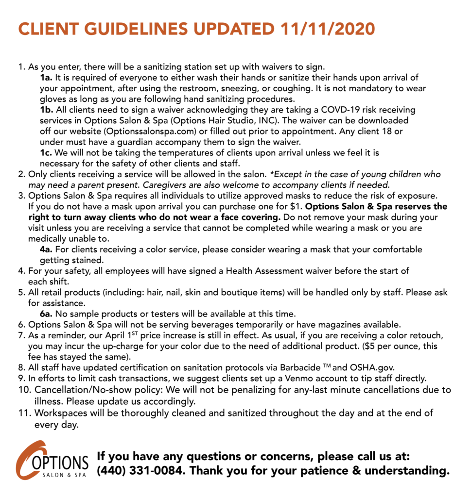 Client Covid Guidelines